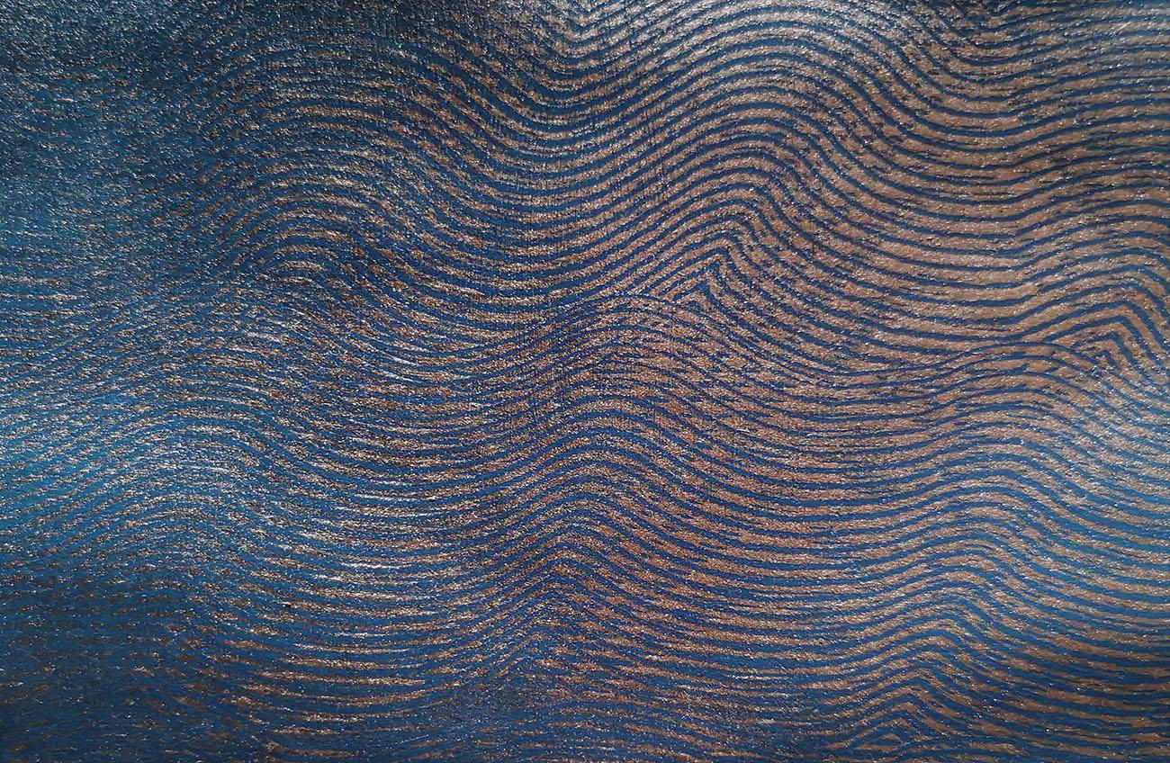 tissage bleu paillette